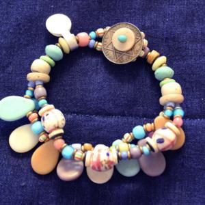 1800's venetian medicine man trade beads 3 strand bracelet