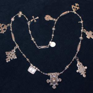 1800s antique ethiopian coin silver coptic crosses necklace