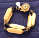 2 strand 1500's dinka fossilized ivory beads bracelet