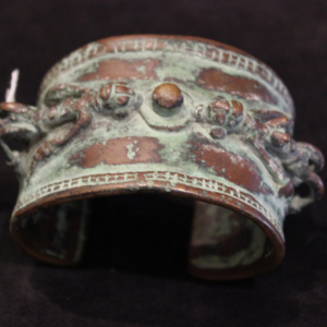 Erotic antique bronze bangle 1800s mali dogon