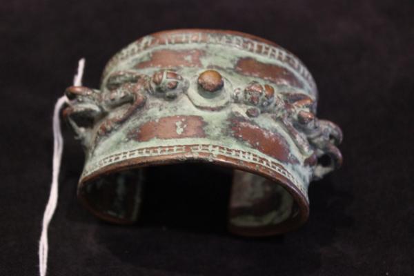 Erotic antique bronze bangle 1800s mali dogon