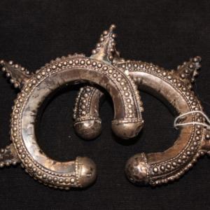 Pair of 1800s small spiky turkomen bangles