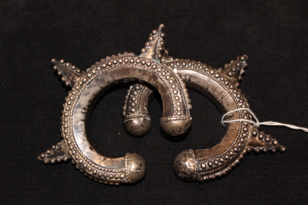 Pair of 1800s small spiky turkomen bangles