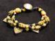 Rare 18thC venetian fancy bead and telsum bead 3 strand bracelet