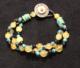 Tibetan Turquoise and baltic amber 3 strand bracelet