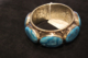 Vintage Tibetan bangle with inlayed blue agate